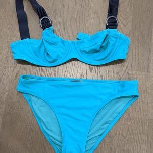 Unlined Underwire Bikini Top with Bottom